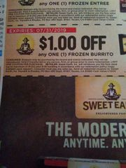 10 Coupons $1/1 Sweet Earth Frozen Burrito Exp.7/31/19