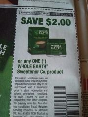 10 Coupons $2/1 Whole Earth Sweetener Co. Product Exp.6/2/19
