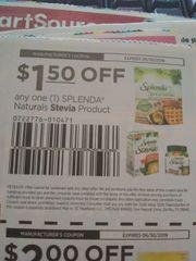 10 Coupons $1.50/1 Splenda Naturals Stevia Product Exp.6/30/19