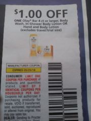 10 Coupons $1/1 Olay Bar 4ct=, Body Wash, In-Shower Body Lotion Or Hand and Body Lotion Exp.5/25/19