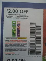 10 Coupons $2/1 Swiffer Starter Kit (Excludes 1ct, 2ct Heavy Duty Duster and ets) Exp.5/25/19