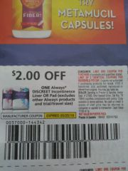 10 Coupons $2/1 ALways Discreet Incontinence Liner or Pad (Excludes Other always Products and ets) Exp.5/25/19