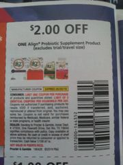 10 Coupons $2/1 Align Probiotic Supplement Product (ets) Exp.5/25/19