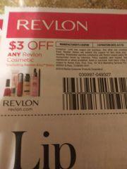 10 Coupons $3/1 Revlon Cosmetic (Excluding Revlon Kiss Balm) Exp.6/1/19