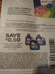 10 Coupons $.50/1 Purex Liquid or Powder Laundry Detergent Exp.6/2/19