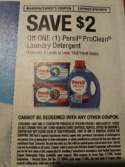 10 COupons $2/1 Persil ProClean Laundry Detergent (Excludes 6 Loads or Less) Exp.6/9/19