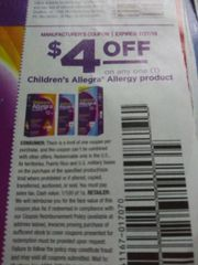 10 Coupons $4/1 Children's Allegra Allergy Product Exp.7/27/19