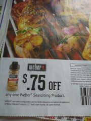 10 Coupons $.75/1 Weber Seasoning Product Exp.7/28/19