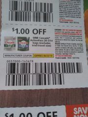 10 Coupons $1/1 Cascade ActionPacs 20-37t Bags Exp.6/22/19