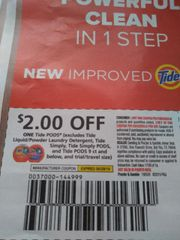 10 Coupons $2/1 Tide Pods (Excludes Tide Liquid/Powder Laundry Detergent, Tide Simply, Tide Simply Pods, and Tide Pods 9ct and Below) Exp.6/29/19