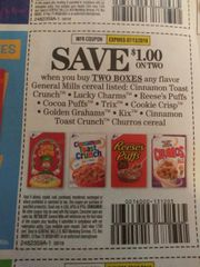 10 Coupons $1/2 General Mills Cereals (SEE PIC) Exp.7/13/19