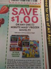 10 Coupons $1/1 Minute Maid Frozen Novelty (Valid Only On 24oz Boxes+) Exp.8/18/19