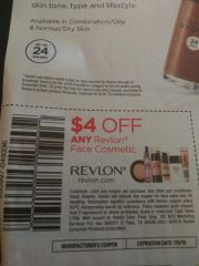 10 Coupons $4/1 Revlon Face Cosmetic Exp.7/6/19