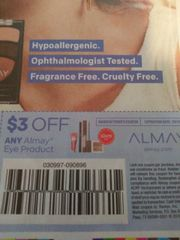10 Coupons $3/1 Almay Eye Product Exp.7/6/19