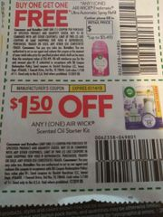 10 Coupons $1.50/1 Air Wick Scented Oil Starter Kit Exp.7/14/19