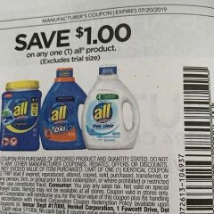 10 Coupons $1/1 All Product Exp.7/20/19