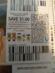 10 Coupons $1/1 Hellmann's Real Mayonnaise Jar (24oz+), Squeeze (11.5oz+), Organic (15oz) or Variety (11oz) Product Exp.7/21/19