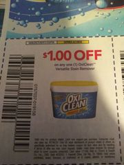 10 Coupons $1/1 OxiClean Versatile Stain Remover Exp.8/7/19