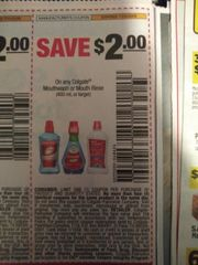 10 Coupons $2/1 Colgate Mouthwash or Mouth Rinse (400mL+) Exp.7/20/19