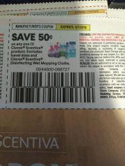 10 Coupons $.50/1 Clorox Scentiva Product Exp.8/7/19