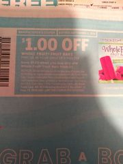10 Coupons $1/1 Whole Fruit Bars Exp.9/8/19