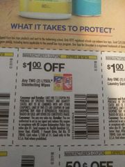 10 Coupons $1/2 Lysol Disinfecting Wipes Exp.8/18/19