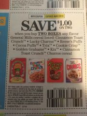 10 Coupons $1/2 General Mills Cereals (SEE PIC) Exp.9/7/19