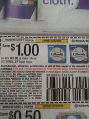 10 Coupons $1/1 Cottonelle Toilet Paper (6) Rolls+ Exp.8/25/19