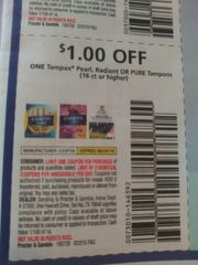 10 Coupons $1/1 Tampax Pearl, Radiant or Pure Tampons (16ct+) Exp.8/24/19