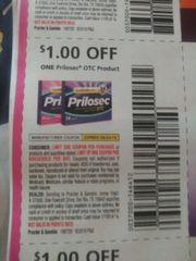 10 Coupons $1/1 Prilosec OTC Product Exp.8/24/19