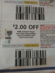 10 Coupons $2/1 Gillette Razor (Excludes Disposables, Venus Products and ets) Exp.8/24/19