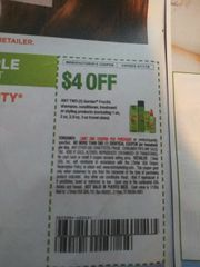 10 Coupons $4/2 Garnier Fructis Shampoo, Conditioner, Treatment or Styling Products (Excludes 1oz, 2oz, 2.9oz, 3oz Travel Sizes) Exp.8/17/19