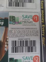 10 Coupons $1/1 Mitchum Antiperspirant & Deodorant (Excluding Twin Packs) Exp.9/7/19