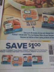 10 Coupons $1/1 Perdue Fresh Chicken, Perdue Fresh Cuts Pre-Cut Chicken, Perdue Perfect Portions Chicken Breasts, Perdue Ground Chicken Exp.9/8/19