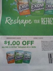 10 COupons $1/1 Extra Refreshers 40ct Bottle Exp.11/3/19
