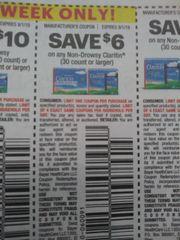 10 Coupons $6/1 Non-Drowsy Claritin (30ct+) Exp.9/1/19