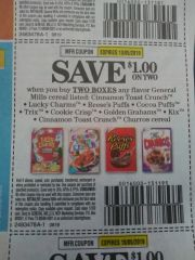 10 Coupons $1/2 General Mills Cereals (SEE PIC) Exp.10/5/19