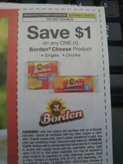 10 Coupons $1/1 Borden Cheese Product Exp.10/5/19