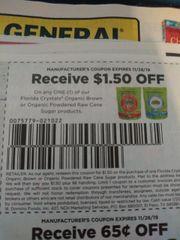 10 Coupons $1.50/1 Florida Crystals Organic Brown or Organic Powdered Raw Cane Sugar Products Exp.11/26/19