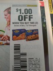 10 Coupons $1/2 Mrs. T's Pierogies Exp.10/12/19