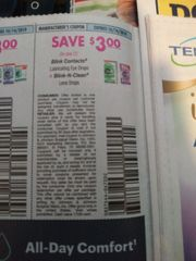 10 Coupons $3/1 Blink Contacts Lubricating Eye Drops Or Blink-N-clean Lens Drops Exp.10/14/19