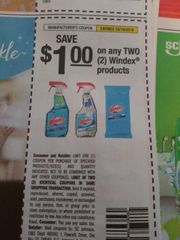 10 Coupons $1/2 Windex Products Exp.10/19/19