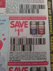 10 Coupons $1/1 St. Joseph Low Dose Aspirin Exp.10/31/19