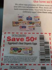 10 Coupons $.50/1 Eggland's Best Organic Eggs Exp.12/8/19