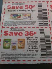 10 Coupons $.35/1 Eggland's Best Hard-Cooked & Peeled Eggs or Cage Free Or organic Hard-Cooked & Peeled Eggs Exp.12/8/19