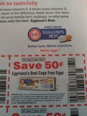 10 Coupons $.50/1 Eggland's Best Cage Free Eggs Exp.12/8/19