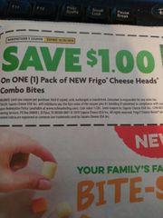 10 Coupons $1/1 Frigo Cheese Heads Combo Bites Exp.10/20/19