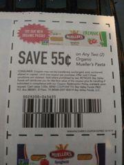 10 Coupons $.55/2 Organic Mueller's Pasta Exp.10/19/19