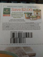 10 Coupons $2/2 Panera Soup, Mac & Cheese, Chili, Pasta or Stew Exp.10/13/19