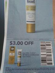 10 Coupons $3/1 Roc Retinol Correxion Eye Cream Exp.10/14/19
